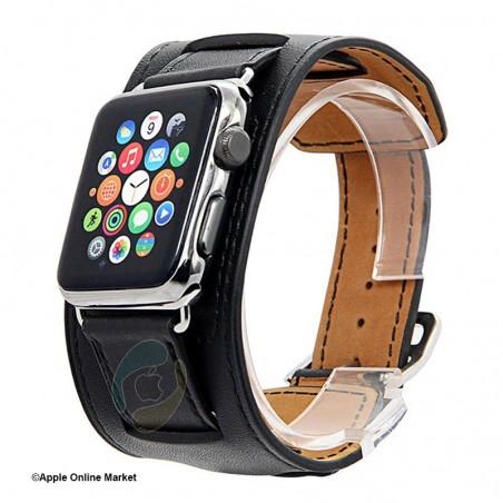 بند چرم طرح Hermes اپل واچ 42 میلیمتر برند Hoco مدل Platinum