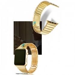 بند فلری طرح link bracelet اپل واچ 42 و 44 میلیمتر