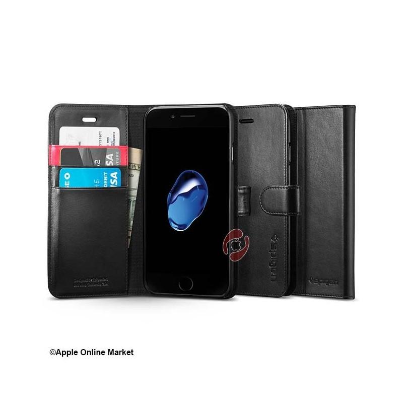 کیف کتابی آیفون 7 و 8 مدل Wallet S برند Spigen