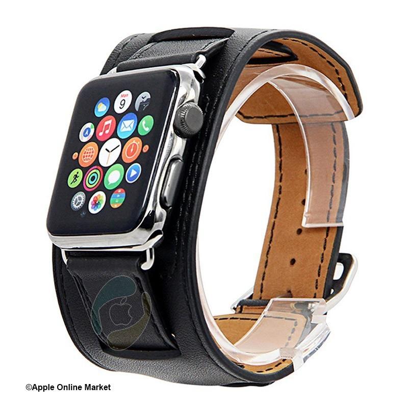 بند چرم طرح Hermes اپل واچ 42 و 44 میلیمتر برند Hoco مدل Platinum